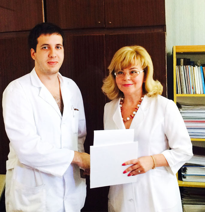 Д.м.н., проф. Журавлёва Л.В., врач-интерн Крамаренко А.И.